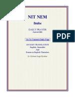 Nitnem by Dr. Kulwant Singh, With Punjabi & Eng Transla & PT