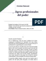 Christian Rakovski (Rakovsky) - Los peligros profesionales del poder (1928).pdf