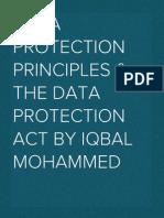 Data Protection Principles (2013)