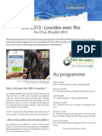 Fiche Presse JMJ Lourdes