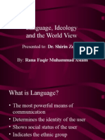 Language, Ideology and the World view by