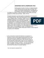 El Catequista Transmisor de Fe.