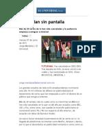El Universal - Espectáculos - Se quedan sin pantalla.pdf
