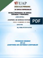 Tecnicas Usadas en La Auditoria de Sistemas Contables