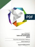 2013-2016ko bake eta bizikidetza plana