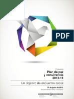 Plan de Paz y Convivencia 2013-16
