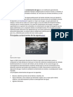La contaminación hídrica