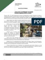18/07/12 Germán Tenorio Vasconcelos convoca Sso a Extremar Acciones Contra El Dengue Ante Lluvias