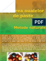 Vopsirea oualelor de paste prin metode naturale