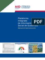 Manual Plataforma Integrada de Información Social Guatemala