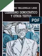 Cesarismo Democrático Laureano Vallenilla Lanz