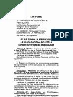 Ley elimina atribución de PNP otorgar certificados domicilairios 28862-aug-3-2006