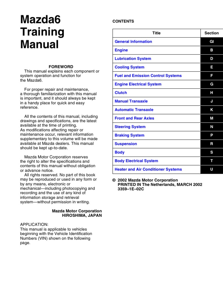 Mazda 6 Wiring Diagram Manual: Mazda Protege 2003 Wiring Diagram  Supplement,Design