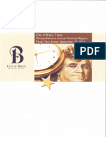 City of Bryan TX | Comprehensive Annual Financial Report | 2012