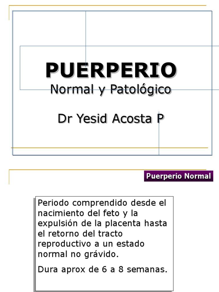 Puerperio normal y patológico universidad de cartagena ppt video.