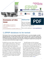 EPOP Newsletter #2 - March 2009