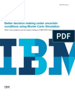Better decision making under uncertain conditions using Monte-Carlo Simulation