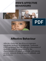 CHILDREN'S AFFECTIVE BEHAVIOURS
