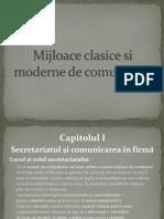 Mijloace Clasice Si Moderne de Comunicare