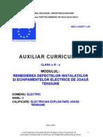 Remedierea Defectelor Instalatiilor Si Echipamente Electrice de Joasa Tensiune