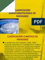 Clasificacion Agroclimatologica de Papadakis