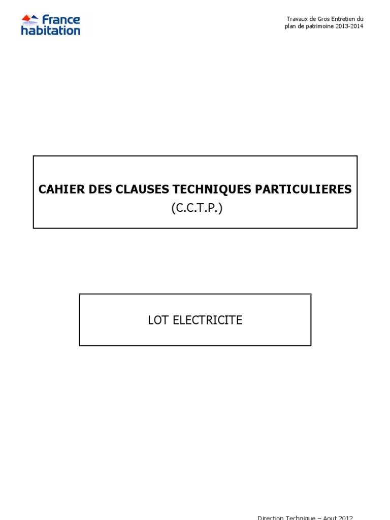 Cctp lot electricit asn07 - Cctp electricite logement collectif ...