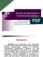 Senzori Si Traductoare in Monitorizarea Mediului