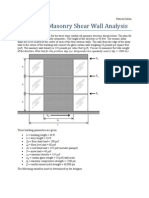2013 Masonry Shear Wall