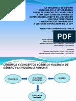 PRESENTACION DEL TRABAJO DE LA VIOLENCIA DE GÉNERO