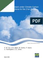 Amazon Dieback Under Climate-Carbon