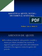 Asientos de Ajuste Notas Dict. Audit