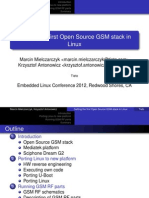 Open Source GSM Stack in Linux