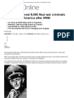 Hall, Allan - Secret Files Reveal 9,000 Nazi War Criminals Fled to South America After WWII (Dailymail, 20 March 2012)