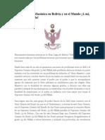 A la población Masónica en Bolivia y en el Mundo