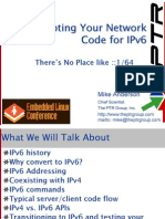 Adapting Your Network Code for IPv6 Support
