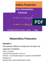 RENDAS ANTECIPADAS