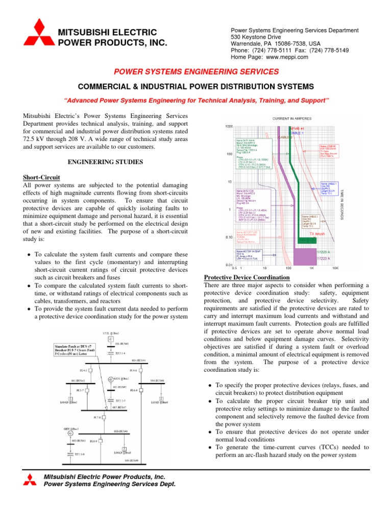Power Distribution Systems Brochure Electric System Basic Electrical Circuits Practical Training In Domestic Substation