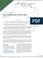 Breves Consideracoes Sobre a Revisao Do Aluguel Antonio Carlos Marcato