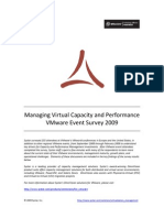 VMworld Survey on Capacity and Performance Management, March 2009