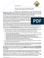 Siaran Pers LKPP 2012