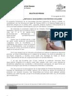 01/08/12 Germán Tenorio Vasconcelos UNAM, SSO Y DIF BENEFICIAN A OAXAQUEÑOS CON PRÓTESIS OCULARES