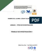 Trabajo de Investigacion II.- Cesar Toledo Sarabia 1
