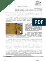 08/08/12 Germán Tenorio Vasconcelos ATIENDEN UNIDADES MÉDICAS DE LOS SSO SIN DISTINGO