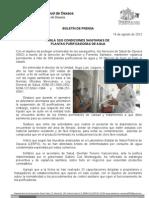 19/08/12 Germán Tenorio Vasconcelos vigila Sso Condiciones Sanitarias de Plantas Purificadoras de Agua