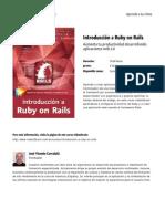 Introduccion a Ruby on Rails
