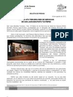 29/08/12 Germán Tenorio Vasconcelos Instala Tercera Red de Servicios en San Juan Bautista Tuxtepec