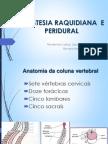 Aula Anestesia Raquidiana e Peridural