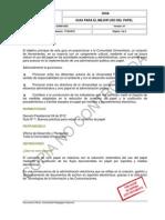 GUI001GDC - Guía para un mejor uso del papel