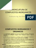 Nomenclatura de Compuestos Inorganicos