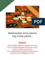 Szabályrendszer online ruletthez